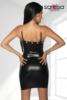 Wetlook-Kleid mit Kette