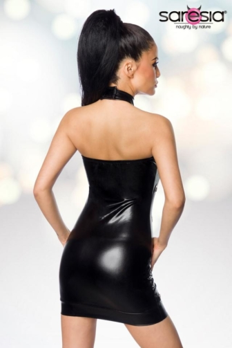 Wetlook-Minikleid