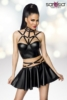 Harness-Wetlook-Set mit ausgestelltem Rock