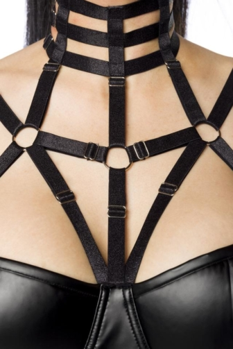 Harness-Wetlook-Minikleid